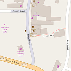 map of Chesham museum location