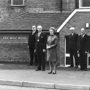 image of the mayor and other people outside Malt House