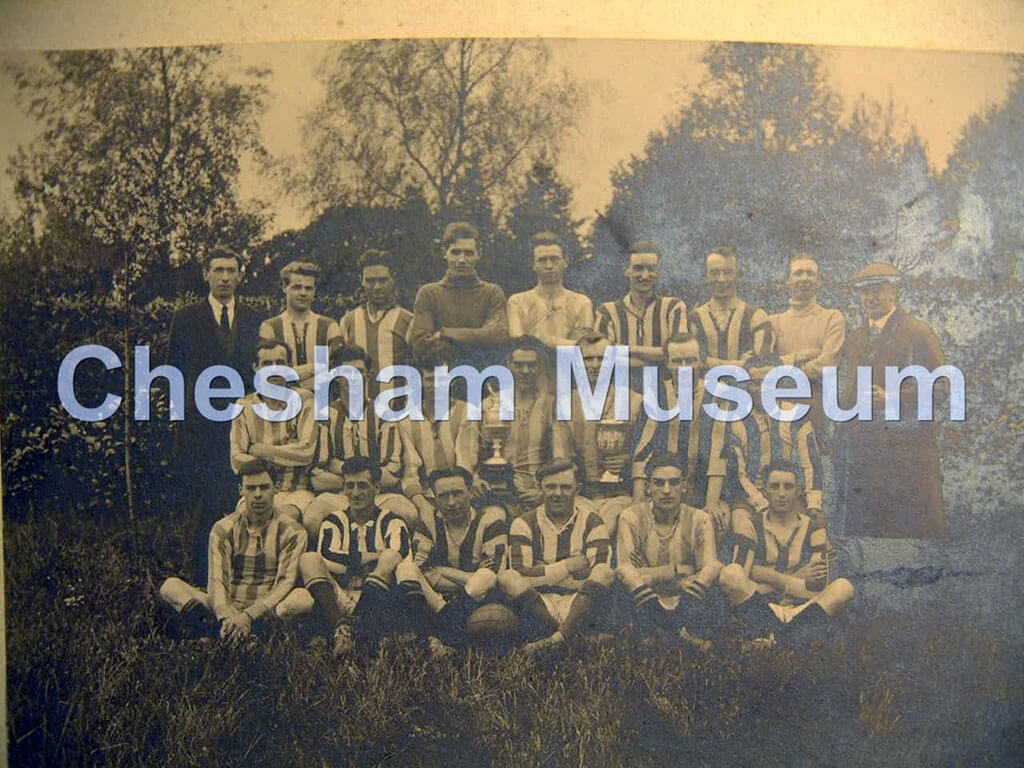 Beechwood's 'ATH' winners Divisions 1 and 2, Chesham League, 1923. Colours: green and white [image code: h4-50-05]