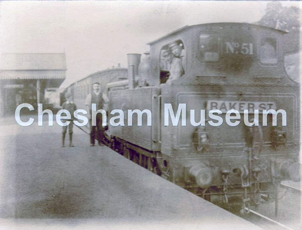 Chesham Station, around 1898. Photo courtesy of Gwyneth Bradley. [image code: h5-28-05]