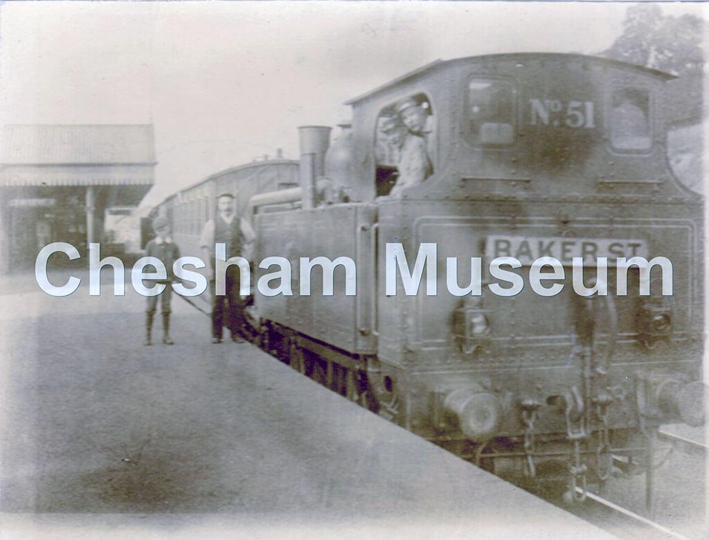 Chesham Station, around 1898. Photo courtesy of Gwyneth Bradley. [image code: h5-28-05]