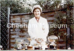 Mrs A Baker, Chesham Bowles Club Champion. Photo courtesy of Kenneth Baker. [image code: h6-25-06]