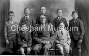 Headmaster, Stan Cox, with boys from White Hill School, around 1935. Photo courtesy of Norman Baines. [image code: h6-26-16]