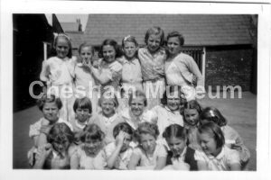 Girls taught by Miss Rance. 1954-55 at Townsend Road School for Giirls. Photo from the estate of the late Kathleen Rance. [image code: h7-05-05]