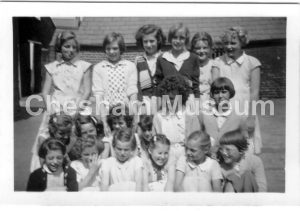 Girls taught by Miss Rance. 1954-55 at Townsend Road School for Giirls. Photo from the estate of the late Kathleen Rance. [image code: h7-05-06]
