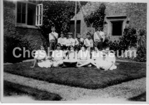 Group of children around a May Pole. Photo from the estate of the late Kathleen Rance. [image code: h7-05-09]