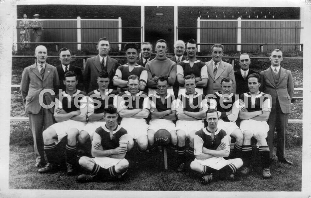 Chesham United football team, 1937-38. Photo courtesy of Len Brown. [image code: h7-11-04]