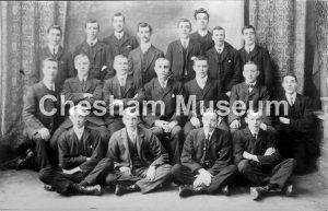 Charles Long with his senior Sunday School Scholars, Broadway Baptist Church, Chesham 1912. Photo courtesy of William Ivory. [image code: h7-27-11]