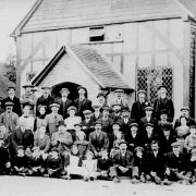 children outside a church in chesham