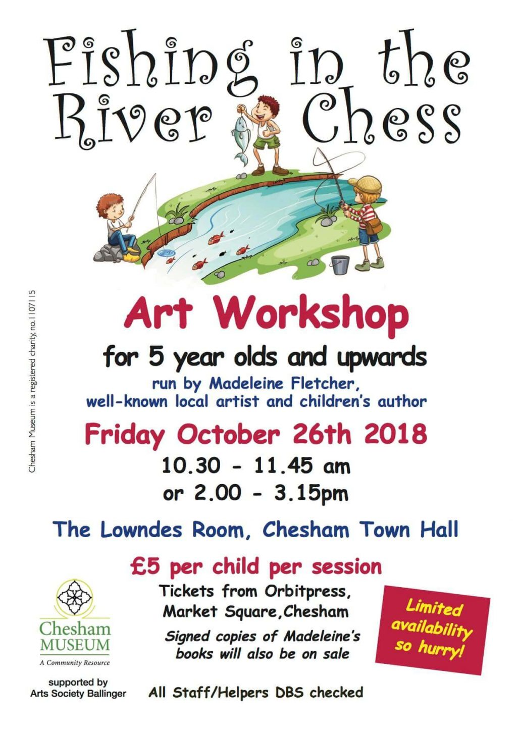 Fishing in the Chess art workshop for children