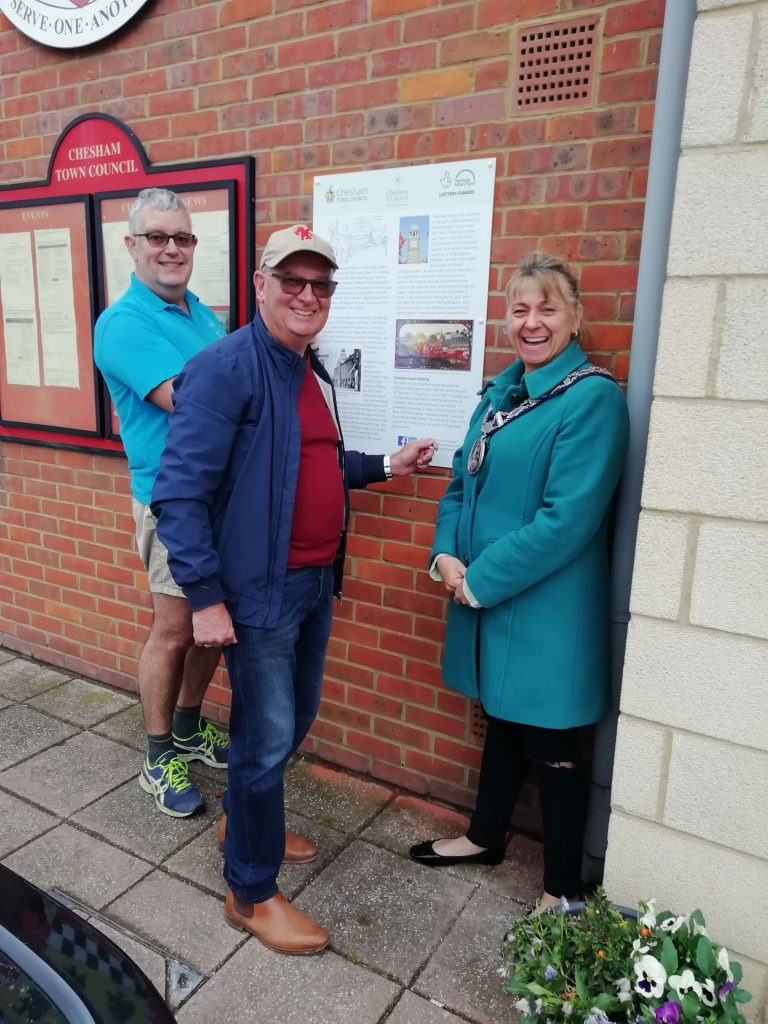 new museum info panel erected at Chesham Town Hall