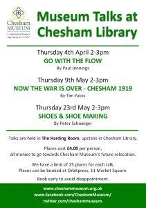 Talks programme for chesham museum