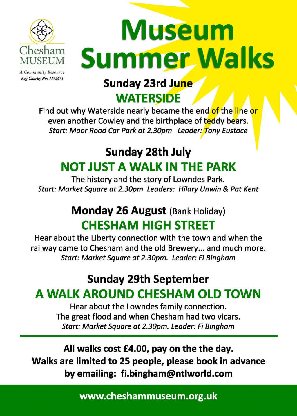 summer walks at Chesham