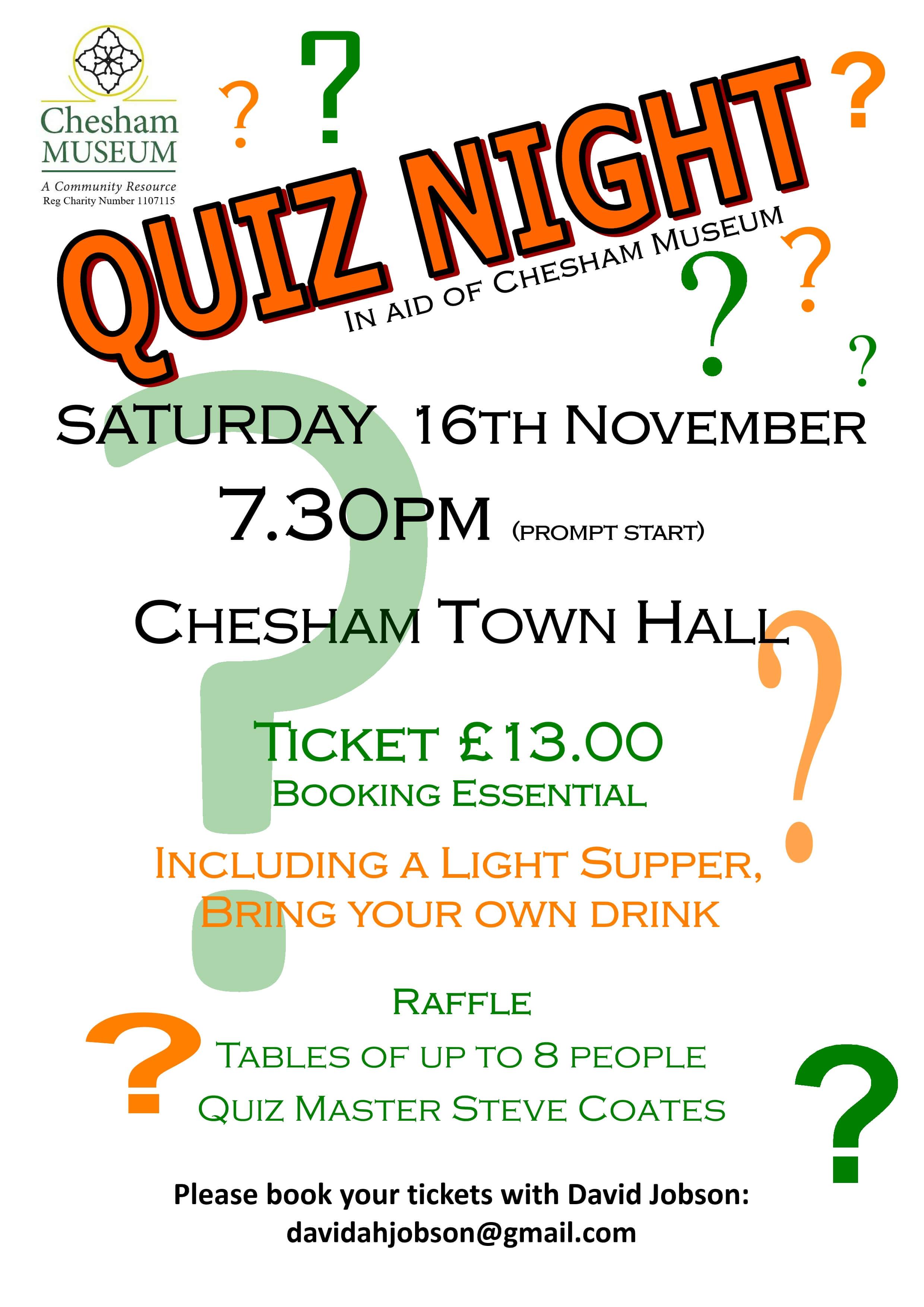 quiz night poster