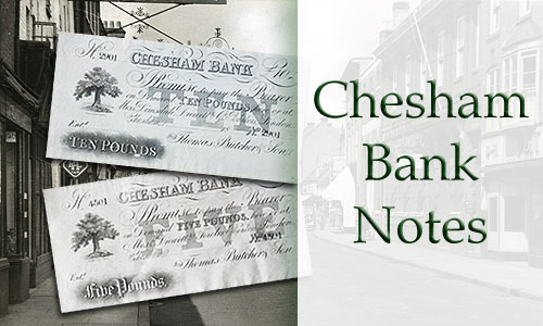 Banner showing 2 Chesham bank notes