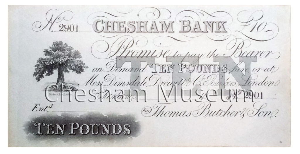 Ten-pound note Serial No: 2900 was issued on 21st July 1858