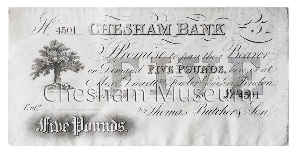 Five-pound note Serial No: 4500 issued on the 30th December 1851 while the ten-pound note Serial No: 2900 was issued on 21st July 1858.